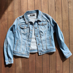 Denim | Soft & Stretchy Crystal Jean Jacket